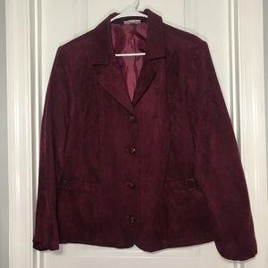 Dress Barn faux suede blazer jacket